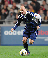 20100125: LISBON, PORTUGAL - 7th Charity Football Match against Poverty: SL Benfica All Stars vs Zidane & Kaka Friends. All the money rose from ticket sales and donations will go to the victims of Haiti Earthquake. In picture: Zidane. PHOTO: Alexandre Pona/CITYFILES