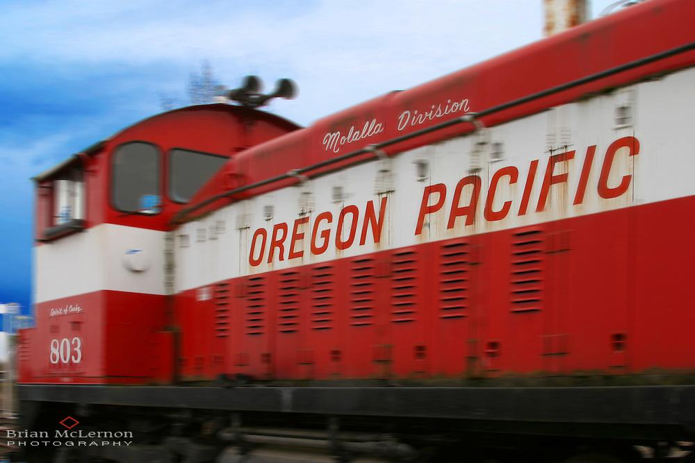 Oregon Pacific switcher, Molalla, OR. Location photography by Portland Oregon photographer Brian McLernon www.brianmclernon.com 503 768-9878