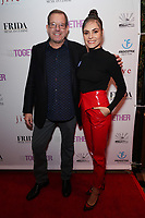 Scott Adler and Elena Ghenoiu at Los Angeles Premiere Of 'Untogether' held at Frida Restaurant on February 08, 2019 in Sherman Oaks, California, United States (Photo by JC Olivera)