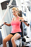 Attractive Blonde Female In Fitness The Center
