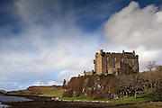 Dunvegan Castle, home of the Macleod Clan, on the western side of the Isle of Skye, Scotland