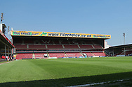 Ground View in the sunshine during the UEFA European Under 17 Championship 2018 match between England and Italy at the Banks's Stadium, Walsall, England on 7 May 2018. Picture by Mick Haynes.