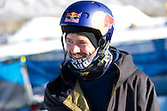 Billy Morgan during Snowboard Slopestyle Practice at 2014 X Games Aspen at Buttermilk Mountain in Aspen, CO. ©Brett Wilhelm/ESPN