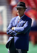 ST. LOUIS, MO-UNDATED:  NFL Hall of Fame head coach Tom Landry of the Dallas Cowboys watches the action during a game against the St. Louis Cardinals at Busch Stadium in St. Louis, MO.  Landry was head coach of the Dallas Cowboys from 1960-1988.  (Photo by Ron Vesely)