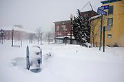 Feb 10,2010 - Herndon, Va USA - Snow in deserted historic Herndon, Virginia on Wednesday..(Credit Image: ©Pete Marovich/ZUMA Press)