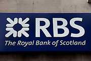 Sign for the Royal Bank of Scotland. RBS.