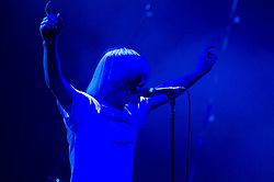 "© Licensed to London News Pictures. 08/06/2012. London, UK. The Charlatans perform live at Hammersmith Apollo, playing their 1997 and fifth studio album ""Telling' Stories"" in its entirety.  In this photo - Tim Burgess.  Photo credit : Richard Isaac/LNP"