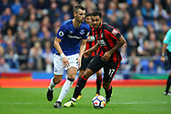 Morgan Schneiderlin of Everton goes past Joshua King of Bournemouth. Premier league match, Everton vs Bournemouth at Goodison Park in Liverpool, Merseyside on Saturday 23rd September 2017.<br /> pic by Chris Stading, Andrew Orchard sports photography.