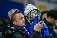 A young fan before the The FA Cup match between Chelsea and Manchester United at Stamford Bridge, London, England on 18 February 2019.