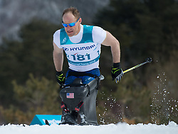 March 17, 2018 - Pyeongchang, South Korea - Dan Cnossen of the US during the 7.5km Cross Country event Saturday, March 17, 2018 at the Alpensia Biathlon Center at the Pyeongchang Winter Paralympic Games. Photo by Mark Reis (Credit Image: © Mark Reis via ZUMA Wire)