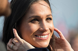 Meghan Markle meets well-wishers at Edinburgh Castle during her visit to Scotland.