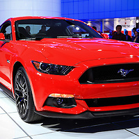 """""""2015 Mustang in Red"""" 2<br /> <br /> The beautiful 2015 Ford Mustang from the Detroit NAIAS""""<br /> <br /> Cars and their Details by Rachel Cohen"""