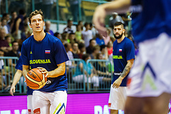Goran Dragic #3 of Slovenia during friendly basketball match between National teams of Slovenia and Hungary on day 1 of Adecco Cup 2017, on August 4th in Arena Tabor, Maribor, Slovenia. Photo by Grega Valancic/ Sportida