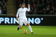 Fernando Llorente of Swansea city in action. Premier league match, Swansea city v Southampton at the Liberty Stadium in Swansea, South Wales on Tuesday 31st January 2017.<br /> pic by  Andrew Orchard, Andrew Orchard sports photography.