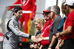 March 11, 2018 - St. Petersburg, Florida, United States of America - March 11, 2018 - St. Petersburg, Florida, USA: Zachary Claman DeMelo (19) gets introduced to the crowd for the Firestone Grand Prix of St. Petersburg at Streets of St. Petersburg in St. Petersburg, Florida. (Credit Image: © Justin R. Noe Asp Inc/ASP via ZUMA Wire)