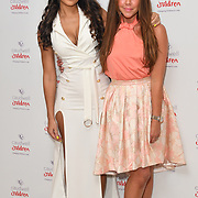 Sarah-Jane Crawford and Michelle Heaton attends the Children's charity hosts fashion and beauty lunch event, with live entertainment at The Dorchester, London, UK. 12 October 2018.