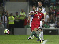 August 31, 2017 - Porto, Porto, Portugal - Portugal's forward Nelson Oliveira kick for goal during the FIFA World Cup Russia 2018 qualifier match between Portugal and Faroe Islands at Bessa Sec XXI Stadium on August 31, 2017 in Porto, Portugal. (Credit Image: © Dpi/NurPhoto via ZUMA Press)