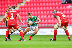 Luca Sperandio of Benetton Treviso in action during todays match<br /> <br /> Photographer Craig Thomas/Replay Images<br /> <br /> Guinness PRO14 Round 3 - Scarlets v Benetton Treviso - Saturday 15th September 2018 - Parc Y Scarlets - Llanelli<br /> <br /> World Copyright © Replay Images . All rights reserved. info@replayimages.co.uk - http://replayimages.co.uk