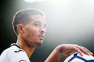 Kyle Naughton of Swansea City looks on. Premier league match, Swansea city v Leicester city at the Liberty Stadium in Swansea, South Wales on Saturday 21st October 2017.<br /> pic by Aled Llywelyn, Andrew Orchard sports photography.