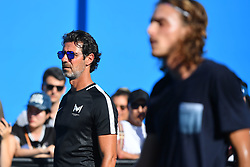 January 20, 2019 - Melbourne, AUSTRALIA - Stefanos Tsitsipas (Gre) and Patrick Mouratoglou (Credit Image: © Panoramic via ZUMA Press)