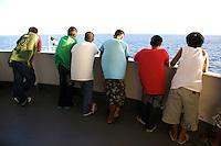 Filipino Passengers on Deck of Philippines Ferry