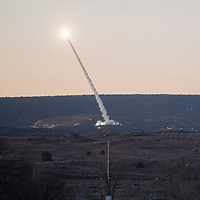 A Black Dagger target missile is launched towards White Sands Missile Range Thursday, Feb. 20 at 6:37 a.m. from the Fort Wingate Army Depot.