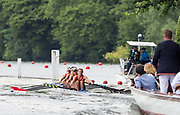 Henley-on-Thames. United Kingdom.  <br /> Princess Grace Challenge Cup. Hollandia Roeiclub, NED W4X. Bow, L SCHEENARD, O. van ROOIJEN, A. SOUWER and N. BEUKERS.<br /> 2017 Henley Royal Regatta, Henley Reach, River Thames. <br /> <br /> 11:30:32  Saturday  01/07/2017   <br /> <br /> [Mandatory Credit. Peter SPURRIER/Intersport Images.