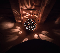 14 December 2016, Cairo, Egypt: Candles are lit at night in the halls of the Anaphora Institute, a Coptic Orthodox retreat and educational centre located north-west of Cairo.