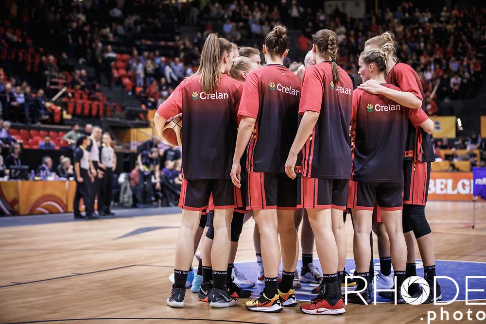 team Belgium  <br /> <br /> Day 1 – CANADA (CAN) vs BELGIUM (BEL): 61-56<br /> <br /> FIBA Women's Olympic Qualifying Tournament 2020 – Ostend,  Belgium<br /> Ostend Versluys Dôme (BEL)<br /> <br /> ©RhodePhotoMedia