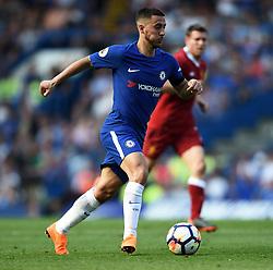 Chelsea's Eden Hazard attacks