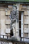 22nd century statue of Roman Caesar erected at the Roman Baths in Bath, England