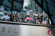 Spaniards angered by austerity measures, including budget cuts and plans to partly privatise some of their country's cherished national health service, have held a rally in Madrid...