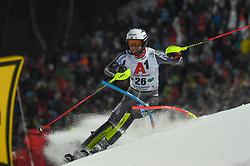 "29.01.2019, Planai, Schladming, AUT, FIS Weltcup Ski Alpin, Slalom, Herren, 1. Lauf, im Bild Jonathan Nordbotten (NOR) // Jonathan Nordbotten of Norway in action during his 1st run of men's Slalom ""the Nightrace"" of FIS ski alpine world cup at the Planai in Schladming, Austria on 2019/01/29. EXPA Pictures © 2019, PhotoCredit: EXPA/ Erich Spiess"
