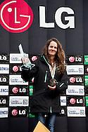02/04/2011 Valmalenco (SO) : junior world chanpionships Snowboard  2011 - half pipe, male and female award ceremony