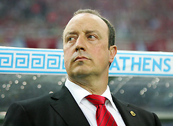 Athens, Greece - Wednesday, May 23, 2007: Liverpool's manager Rafael Benitez before the UEFA Champions League Final against AC Milan at the OACA Spyro Louis Olympic Stadium.  (Pic by David Rawcliffe/Propaganda)