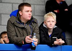 Bristol Rovers fans - Photo mandatory by-line: Neil Brookman/JMP - Mobile: 07966 386802 - 01/11/2014 - SPORT - Football - Telford - New Bucks Head Stadium - AFC Telford v Bristol Rovers - Vanarama Football Conference