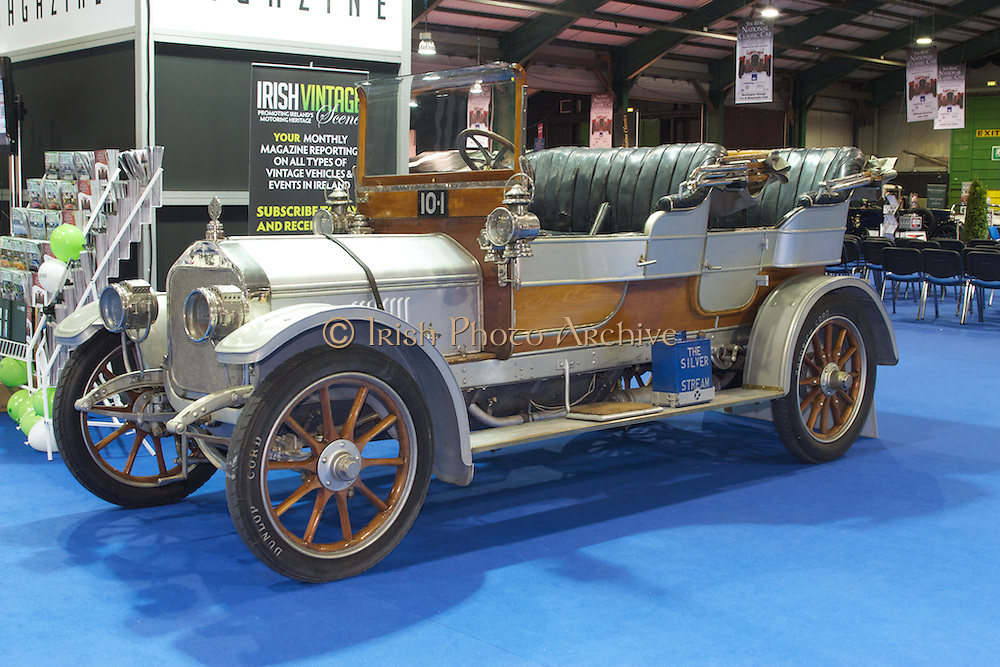 RIAC Classic Car Show 2013, RDS, 1909 Silver Stream. A unique car in the most literal sense, Irish, Photo, Archive. It was constructed over the period from 1907 to 1909 as a prototype for a line of large, luxury cars.
