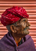 Old man on the street on 4th February 2018 in Jaipur, Rajasthan, India. There are over 104 million elderly persons aged 60 years or above in India. A study conducted by the Agewell Foundation found that, during the coronavirus pandemic, as much as 71% of elderly people in India believed that ill treatment toward them had increased during the lockdown.
