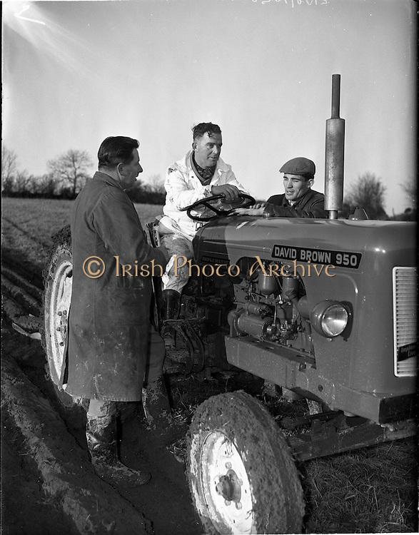10/01/1961.01/10/1961.10 January 1961.Tractor demonstration David Brown 950 at Multyfarnham Co. Meath.
