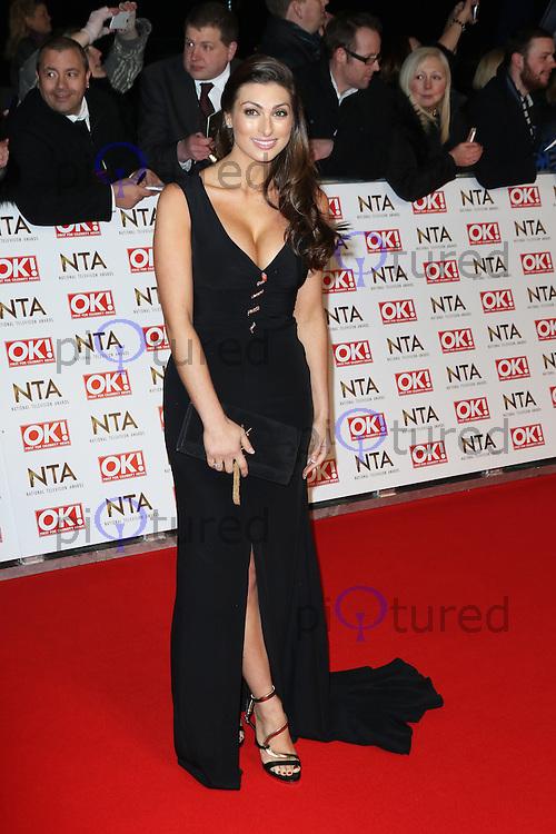 Luisa Zissman, National Television Awards, The O2, London UK, 21 January 2015, Photo by Richard Goldschmidt