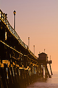 Vertical Photo of San Clemente Pier at Sunset