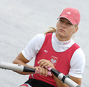 Poznan, POLAND,  POL W1X, Julia MICHALSKA, moves away from the start, in her morning heat, at the 2008 FISA World Cup. Rowing Regatta. Malta Rowing Course on Friday, 20/06/2008. [Mandatory Credit:  Peter SPURRIER / Intersport Images] Rowing Course:Malta Rowing Course, Poznan, POLAND
