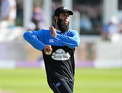 Moeen Ali of Worcestershire warms up.  - Mandatory by-line: Alex Davidson/JMP - 17/08/2016 - CRICKET - Cooper Associates County Ground - Taunton, United Kingdom - Somerset v Worcestershire Rapids - Royal London One Day Cup Quarter Final