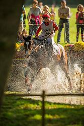 Ramsgaard Hanne Wind (DEN) - Staugaards Flying Colours <br /> Cross country  6 years old horses<br /> Mondial du Lion - Le Lion d'Angers 2014<br /> © Dirk Caremans<br /> 18/10/14