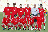 FOTBALL - CONFEDERATIONS CUP 2003 - GROUP B - TYRKIA v USA - 030619 - TEAM TURKEY ( BACK ROW LEFT TO RIGHT: AHMET YILDIRIM / SELCUK SAHIN / OKAN YILMAZ / ALPAY OZALAN / OMER CATKIC / BULENT KORKMAZ . FRONT ROW: VOLKAN ARSLAN / IBRAHIM  UZULMEZ / FATIH SONKAYA / TUNCAY SANLI / GOKDENIZ KARADENIZ ) - PHOTO STEPHANE MANTEY / DIGITALSPORT
