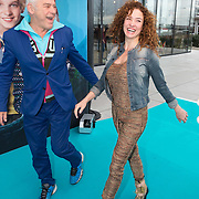 NLD/Amsterdam/20151206 - Filmpremiere Dummie de Mummie en de Sfinx van Shakaba, Katja Schuurman en Hans Dagelet