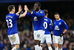 4th February 2017 - Premier League - Everton v Bournemouth - Romelu Lukaku of Everton celebrates with teammate Seamus Coleman after scoring their 4th goal - Photo: Simon Stacpoole / Offside.