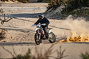 Dirt bike on a sand dune