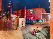 Yarkand city at night.