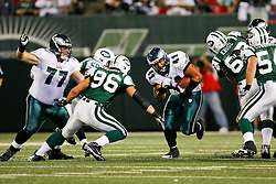Philadelphia Eagles running back Marcus Mailei #41 runs the ball during the NFL game between the Philadelphia Eagles and the New York Jets on September 3rd 2009. The Jets won 38-27 at Giants Stadium in East Rutherford, NJ.  (Photo By Brian Garfinkel)